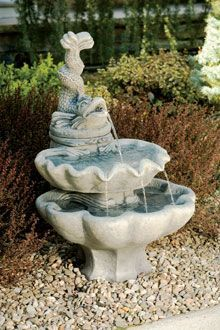 #3413 TWO TIER ORNAMENTAL FISH FOUNTAIN