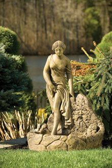 "#3429 35"" BATHING WOMAN FOUNTAIN"