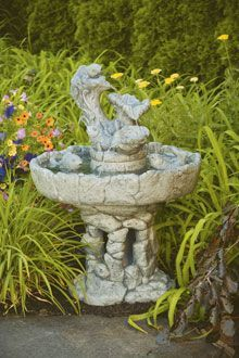 #3530 THREE TIER FISH STONE FOUNTAIN