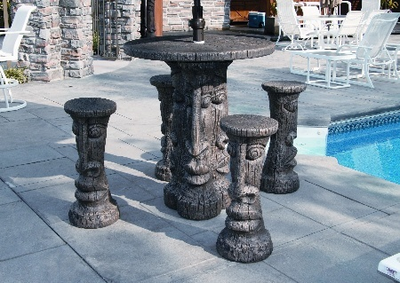 #4960 TIKI TABLE SET BAR HEIGHT