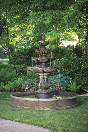 "3673  79"" CLASSIC FOUR TIER FOUNTAIN ON 6' POOL"