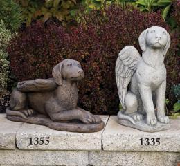 #1355 Laydown Guardian Dog Angel