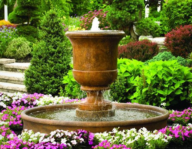 "#3704 40"" Cento Urn on 6' Pool Fountain"