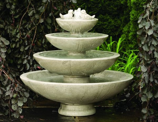 "#3692 39"" Tranquillity Fountain With Birds"