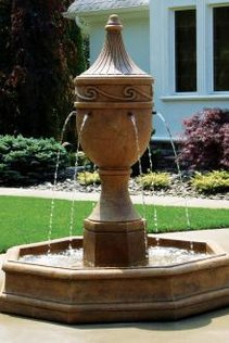 "#3462 80"" Imperial Scroll Fountain with Pump"
