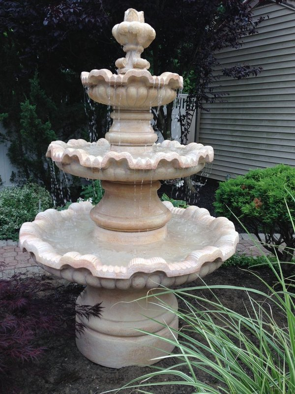"72"" Three Tier Renault Fountain"