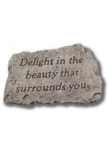 "10"" Garden Greetings Stone (Click To See More)"