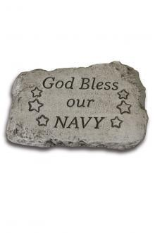 "#1851 God Bless Our Navy 10"" Stone"