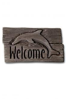"1886 11"" Stone - Welcome Dolphin"